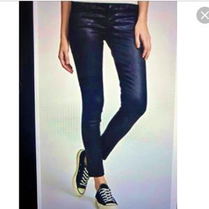Vince Lola Stovepipe Coated Blue Skinny Jean 24